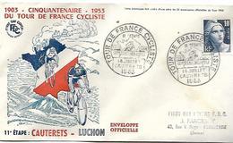 Cinquanenaire 1953 Du Tour De France Cycliste  11 è étape Cauterets  - Luchon