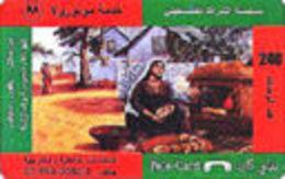 PALESTINA : PELE CARD 240u Making Bread - Palestine