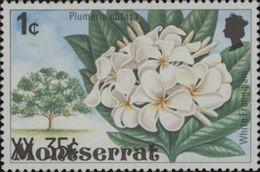 MONTSERRAT 1980. Flower Tree.OVPT:35c/1c ERROR:OVPT:total Down.[Fehler,erreur,errore,fout]