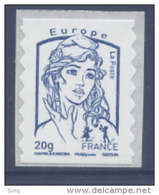 N° 852 Marianne Adhésif Année 2013, Valeur Faciale 20g Bleue Europe - France