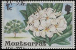 MONTSERRAT 1980 Local White Flower Tree 35c/1c ERROR:shift Ovpt.up/down In Perf.[Fehler,erreur,errore,fout]
