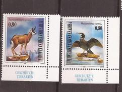 1995 X 43-44 KROATIEN CROAZIA JUGOSLAVIJA REPUBLIKA SRPSKA KRAJINA BIRDS KORMORAN CAPRA  PROTECTION NATURA MNH - W.W.F.