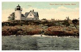 3834  ME  Camden Negro Island Light - Stati Uniti
