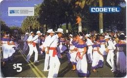 DOMINICAN REPUBLIC : STD 01 $5 With ITC Logo , DESFILE Al MALECON Carnival .. RARER Card - Dominicaine