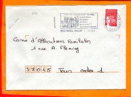 MAINE ET LOIRE, Montreuil Bellay, Flamme SCOTEM N° 7971, Le Val Du Thonet, Chateau, Dateur Inversé - Marcophilie (Lettres)