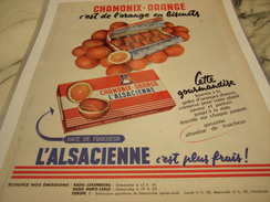 ANCIENNE PUBLICITE GATEAU CHAMONIX-ORANGE DE L ALSACIENNE 1971 - Posters