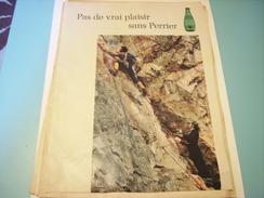ANCIENNE PUBLICITE BOISSON PERRIER 1971 - Perrier