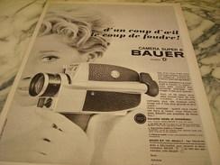 ANCIENNE PUBLICITE CAMERA SUPER 8 BAUER 1966 - Photography