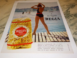 ANCIENNE PUBLICITE LES PATES ALIMENTAIRE  REGIA 1965 - Affiches
