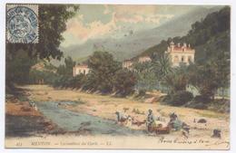 MENTON, Lavandières Du Caréi -1904 - Bon état - Dos Simple - Menton