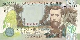 COLOMBIA 5000 PESOS 2001 P-452b AU/UNC [CO452b] - Colombia