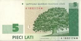 LATVIA 5 LATI 2001 P-49b XF/AU [LV230a] - Lettonie