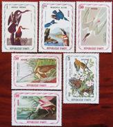 FREE POSTAGE!! Haiti 1975 Birds, Vögel, Oiseaux, Uccelli, Aves, Audubon, 6v Part, MLH Mint, Postfrisch Falz, G-vg