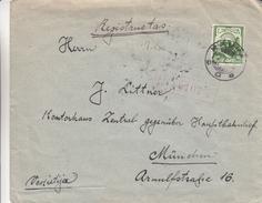 Lituanie - Lettre Recom De 1928 ° - Oblit Kaunas - Exp Vers Munich - Cachet Train - Lithuania