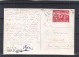 Lituanie - Carte Postale De 1938 ! - Oblit Birstono - Exp Vers Kaunas - Vue De Birstono - Lithuania