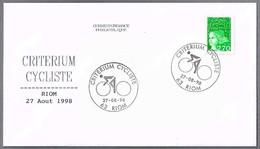 CRITERIUM CYCLISTE. Ciclismo - Cycling. Riom 1998