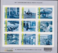 ITALIA - 2012 - 150° Ann. Delle Poste Italiane  Fotografie Del Lavoro Postale Sheet MNH