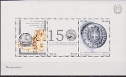 ITALIA - 2012 - 150° Ann. Dell'Istituzione Del Sistema Di Monetizzazione Nazionale Old Coins  Sheet MNH