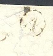 AUDE 11 MONTOLIEU LAC Cursive 10/Montolieu + TAD 13 Alzonne  Du 31/05/1847 Taxe 2 Boite Rurale A = Saissac TTB - Marcophilie (Lettres)