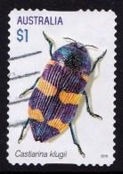 Australia 2016 Jewel Beetles $1 Castiarina Self-adhesive Used - - 2010-... Elizabeth II