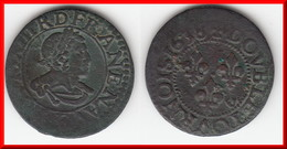**** DOUBLE-TOURNOIS 1638 LOVIS XIII - LOUIS XIII **** EN ACHAT IMMEDIAT !!! - 1610-1643 Lodewijk XIII Van Frankrijk (De Rechtvaardige)