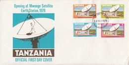 1979 Tanzania Mwenge Satellite Station  Telecommunications   First Day Cover - Tanzania (1964-...)