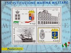 ITALIA - 2011 - 150° Anniversario Della Marina Militare Nave Ship   Sheet MNH