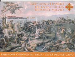 ITALIA  2012 - Battaglia Di Ponte Milvio Painting Dipinti  Sheet MNH