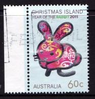 Christmas Island 2011 Year Of The Rabbit 60c Used