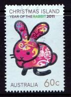 Christmas Island 2011 Year Of The Rabbit 60c Used -
