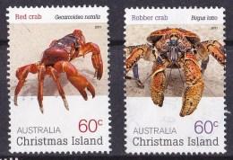 Christmas Island 2011 Crabs 60c Both Used