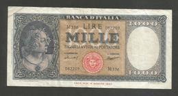 REPUBBLICA ITALIANA - 1000 Lire - ITALIA (Medusa - Decr. 15/09/59 - Firme: Menichella / Boggione) - [ 2] 1946-… : Repubblica