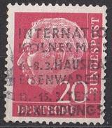 704 Germania 1954 Presidente Theodor Heuss Viaggiato Used Bundes Germany