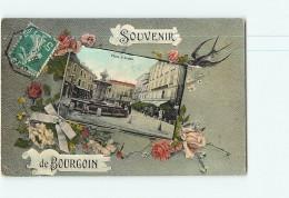 BOURGOIN -  La Place D' Armes Dans Un Cadre Fleuri -  2 Scans - Bourgoin