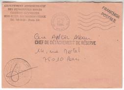 1984 - Lettre  - TàD De Rueil Malmaison + Tampon Caserne Guynemer - FRANCODE PORT - Postmark Collection (Covers)