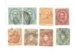 1879 - 1891 ITALIA REGNO - 8 Valori Usati Stemma E Umberto I