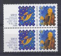 Belgie - Belgique 2932a - Belgica 2001 - VERTIKAAL PAAR - Rouleaux