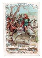 (Chromos) Chocolaterie D'Aiguebelle, Vie De Jeanne D'Arc 5, Le Départ Pour Chinon - Aiguebelle