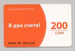 KYRGYZSTAN - BITEL - GSM Prepaid Card - 200 SOM - Cardboard - - Kirgisistan
