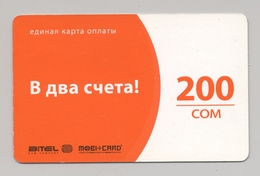 KYRGYZSTAN - BITEL - GSM Prepaid Card - 200 SOM - Cardboard - - Kirghizistan