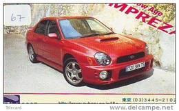 Phonecard Télécarte SUBARU (67) Voiture Car Auto Phonecard Automibile Japon - Cars