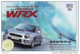 Phonecard SUBARU (155) Voiture Car Auto Phonecard Automibile Japan - Auto's