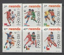 Rwanda - SOCCER / FOOTBALL 1986 MNH