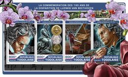 TOGO 2017 - L. Van Beethoven, Coins. Official Issue. - Münzen