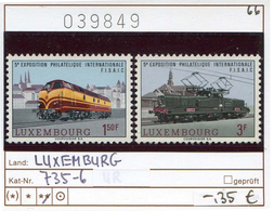 Luxemburg - Luxembourg - Michel 735-736 - ** Mnh Neuf Postfris - Eisenbahn - Railways - Chem. De Fer