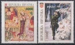 CROATIA 261-262,unused,Christmas 1993