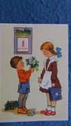 CPSM DESSIN ENFANT 1 ER SEPTEMBRE JOUR OU EN UNION SOVIETIQUE COMMENCE L ECOLE JEUX JOUETS - Dessins D'enfants
