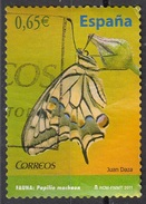 Spagna 2011 Sc. 3765 Farfalle Butterflies Papillons - Papilio Machaon - Viaggiato Used Espana Spain - Vlinders