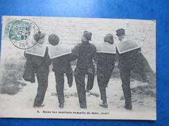 VAR  84   TOULON    ( EXPEDIE DE ... )   MARINS  -  DANS LES SENTIERS REMPLIS DE MER...LES  !!!!!     ANIME     TTB - Toulon