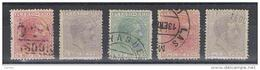 PORTO  RICO:  1882/84  NO  MILLESIMO  -  5  VAL. US. -  YV/TELL. 55//65 - Puerto Rico